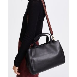 Sam Edelman•Black Leather Alessandro Tote Bag